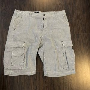 MARC ECKO Striped Shorts Men's Waist 38 actual 40W